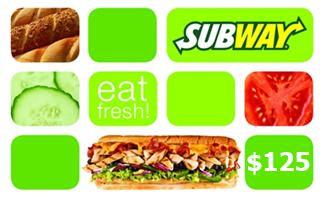 free Subway gift cards Free SubWay Gift Cards
